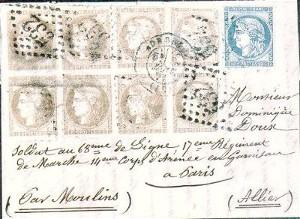 Une enveloppe acheminée par une boule de Moulins