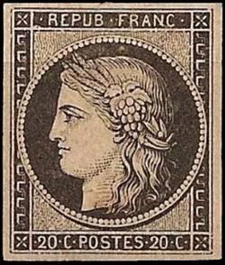 Cérès 10c - 1849