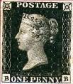 Le Penny-Black représente la Reine Victoria de profil